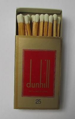 Dunhill Cigarettes full complete with matchbox striker with wooden matches