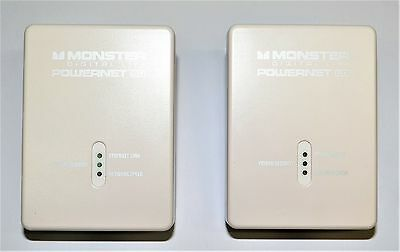 Monster Powernet 50 Powerpoint to Ethernet Everywhere 200Mbps White #778323