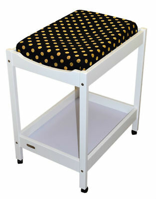 Bambella Change Table Mat Cover Polka Black/ Gold
