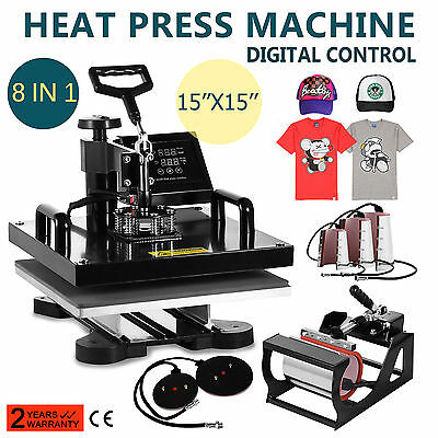 8In1 Digital Heat Press Machine Baseball Hat Cup Plate Printing Hot High Quality