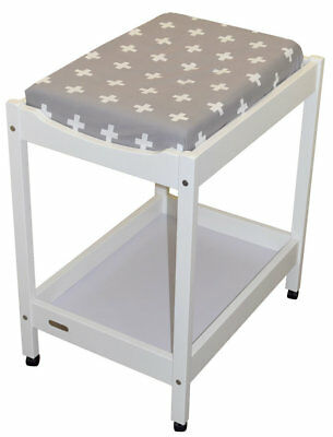 Bambella Change Table Mat Cover Crosses Grey /White