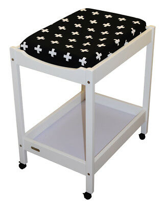 Bambella Change Table Mat Cover Crosses Black /White