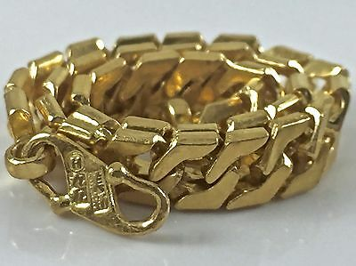 "24k Yellow Gold Curb Link Bracelet 7"" L  7 mm  21.4 gr."