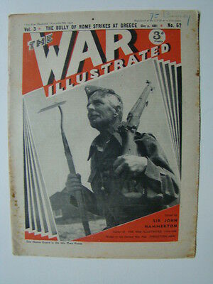 The War Illustrated Magazine WWII Photograph Cover Holland House Bombed 1940