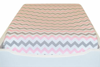 Bambella Designs Ultra-soft cotton Baby Change Table Mat Cover (Chevron Pink)