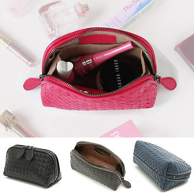 WEAVE LAMBSKIN POUCH ~ [made in Korea] Premium Genuine Leather Womens
