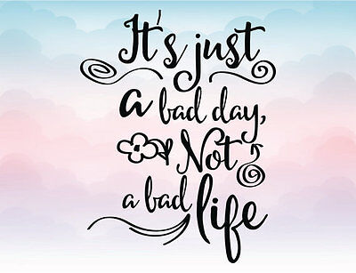a bad day not bad life Wall Decals Vinyl kids boys Wall Stickers Mural Decor DIY