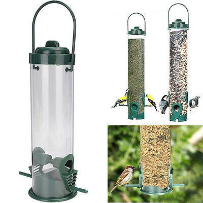 Bird Seed Feeder 2 Feeding Ports Wild Outdoor Wildlife Station Garden Hanging