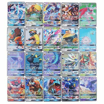 Nuovo Per Pokemon TCG: 20Pcs/SET Pokemon GX/EX Flash Cards Trainer CARTE
