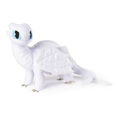 How to Train Your Dragon 3 Light Fury Plush Doll White Dragon Figure Toy 7 inch