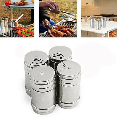 Spice Shaker Sugar Salt Pepper Herbs Seasoning Pot Kitchen Cooking Barbecue Tool