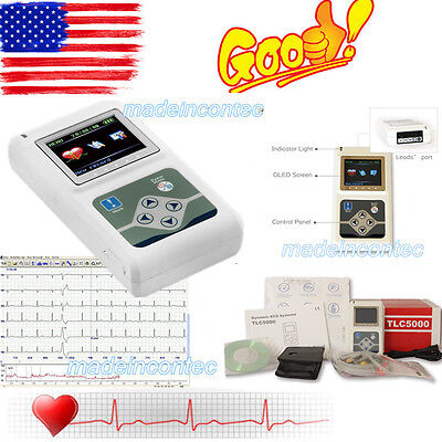 Newest 12-channel ECG/EKG Holter System/Recorder Monitor ​Analyzer Software 2017