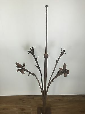 Antique French Cast Iron Finial For Weathervane