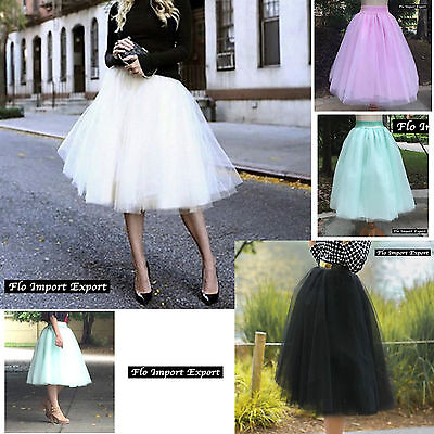 Gonna Midi in Tulle Donna Ragazza Woman Girl Tulle Midi Skirt 130041