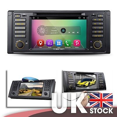 """Android 6.0 7"""" Multimedia Car DVD GPS Mutual Control EasyConnection for BMW E39"""