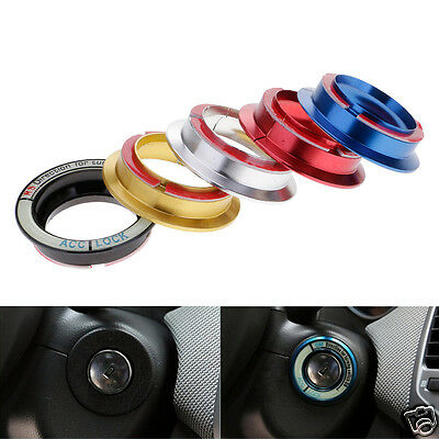 Colorful Luminous Keyhole Car Switch Double Tape Cover Decor Ring For Ford