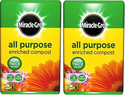 Miracle Gro All Purpose Enriched Compost 100 Litre BEST PRICE Ebay Free Delivery