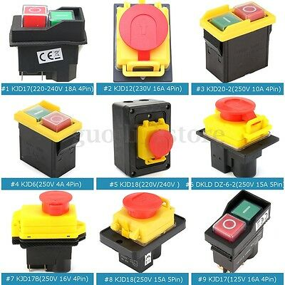 10 Type Release Emergency Stop Electrical Switch for Industrial Workshop Machine