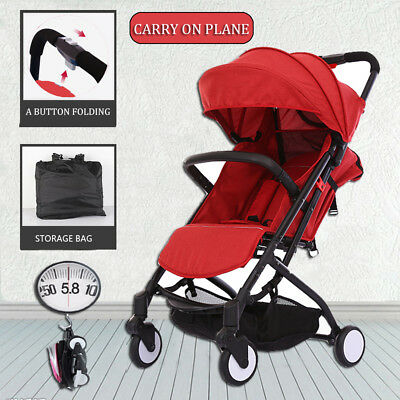 New Babytime Compact Lightweight Baby Stroller Pram Easy Fold Travel Carry-on