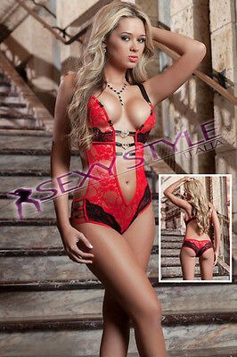 COMPLETINO INTIMO DONNA BODY BABY DOLL TEDDY perizoma SEXYSHOP LINGERIE TU 3190