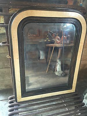 Antique French Louis Phillipee Mirror, Foxed Mercury Glass