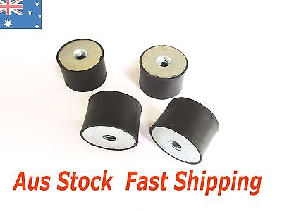 4pcs M8 Rubber Vibration Mount 30*20mm Isolator Auto Bobbin FF female female