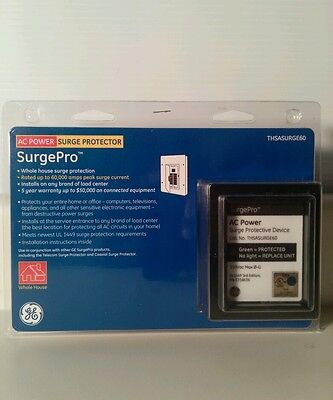 GE Surge Pro AC Power Whole House Surge Protector~ No.THSASURGE60  NIP
