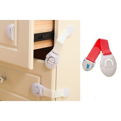 10 Pieces Baby Child Safe Lock for Home Furniture Baby Proofing Red or White