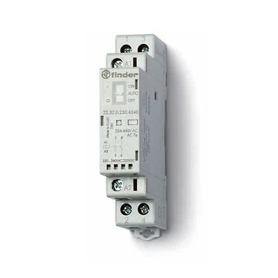 Finder 22.32 Installation Contactor 230V AC DC / 25A/2 Closer 22.32.0.230.4320