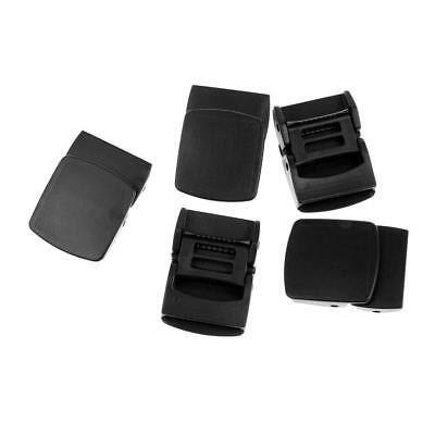5pcs Black Plastic Belt Cam Buckles Ending Clips For Webbing Fastener 25mm