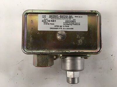 Detroit Differential Pressure Switch Type 222-10 NB1