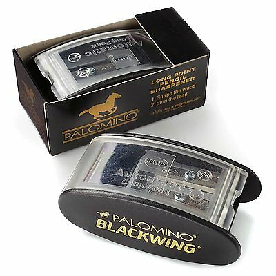 PalomIno Blackwing Kum Long Point Pencil Sharpener 2 Hole Different Steel Blades