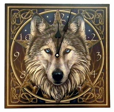 "11.25"" Wolf Wall Clock by Lisa Parker"