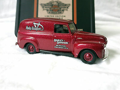 Harley 1951 GMC Panel Delivery Van 1:43 Die Cast Dime Bank with tin, 99220-95v