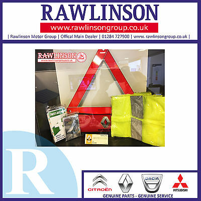 Genuine Renault Safety Kit 2016 7711433857 Warning Triangle
