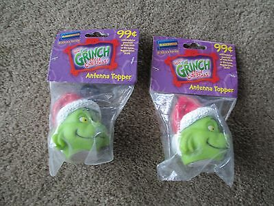 """2001 Blockbuster """"Dr. Seuss How the Grinch Stole Christmas Antenna Topper NIP"""