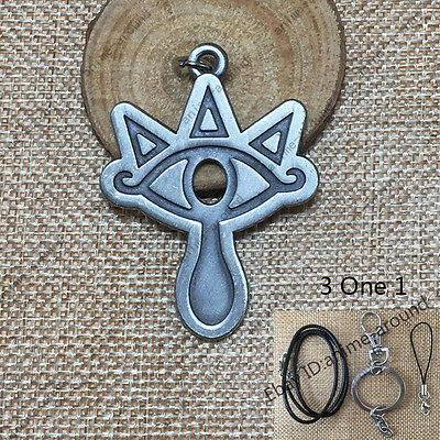 The Legend of Zelda Sheikah Slate Pendant Keychain Necklace Phone Strap 3 One 1