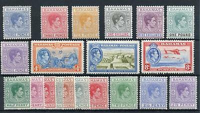 Bahamas 1938-52 set + additional p12½ set SG149/57b + SG158/60 MLH cat £167