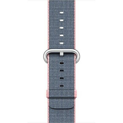 Apple - Woven Nylon for Apple Watch 38mm - Light Pink/Midnight Blue MNK62AM/A