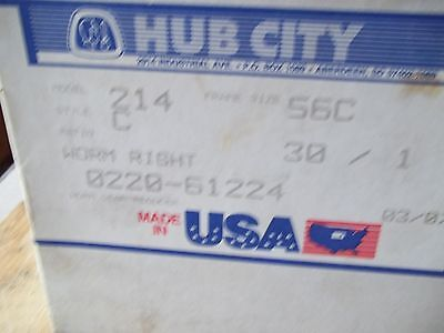New In Box Hub City 0220-61224-214 Style C Worm Gear Speed Reducer Ratio 30:1