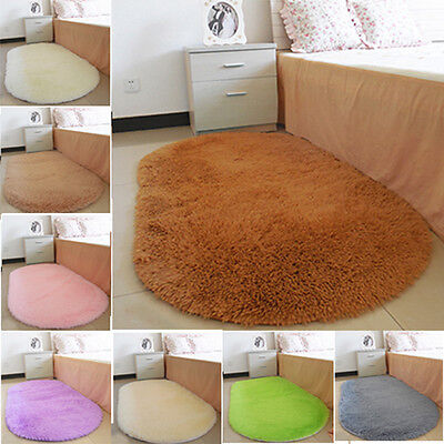 2017 Bedroom Carpets Absorbent Memory Foam Area Rug Oval Non-slip Mats 40 x 60cm