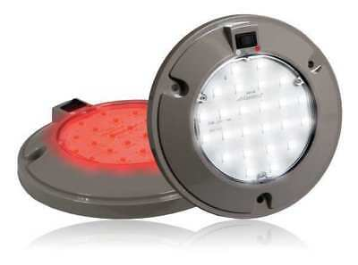 Dome Light,LED,Surface Mnt,6In,White/Red