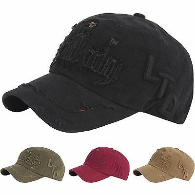 B240 New Unisex Vintage Washing Fashion Vilking Ball Cap Baseball Hat Truckers