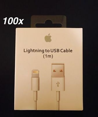 Wholesale 100x OEM Original Apple iPhone 7 6s 5 Lightning USB Data Cable Charger