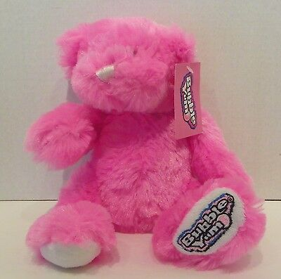 """Hershey's Bubble Yum Pink Plush Teddy Bear with Tags (no gum) 10"""""""