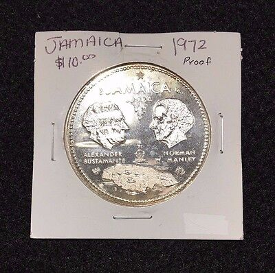 1972 Jamaica $10 Tenth Anniversary of Independence Sterling Silver Proof