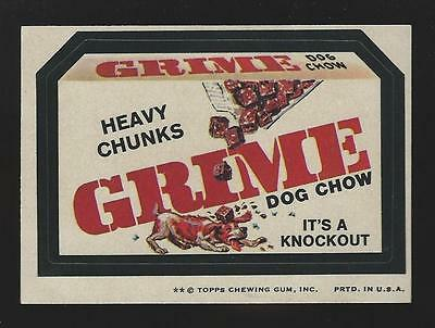 1974 Topps Wacky Packages - Grime Heavy Chunks