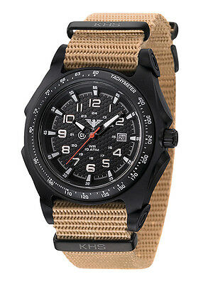 KHS Tactical Watches Sentinel Analog Mens Wristwatch C1-lights Date Army Strap
