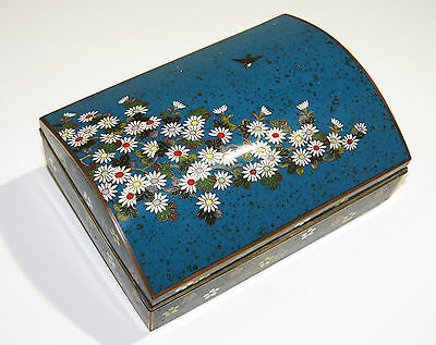 Antique Japanese Cloisonné Enamel Box Inaba School Circa 1910