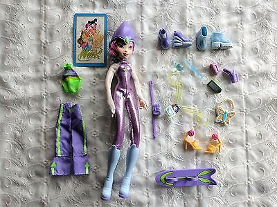 Cute Purple Theme with Purple / Pink Hair Winx Club Doll & Accessories